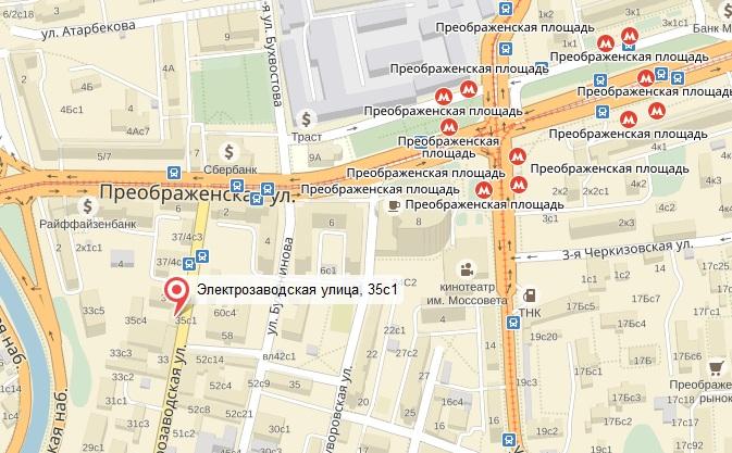 Новое место МПР (карта)