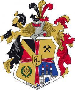Wappen einer Burschenschaft als Vektorgrafik | coat of arms of a fraternity as a vector graphic | escudo de una fraternidad como gráfico de vectores